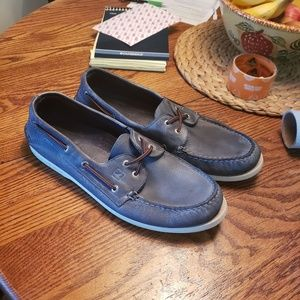 SPERRY Top Siders Navy Blue Gray M13